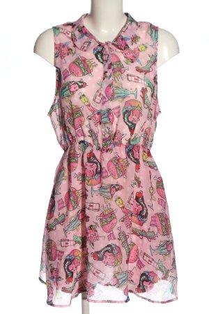 Iron fist Koszulowa sukienka różowy-zielony Na całej powierzchni