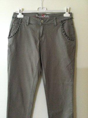 Buena Vista Pantalone cinque tasche argento-grigio chiaro Cotone
