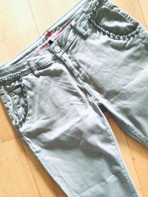 Buena Vista Spodnie z pięcioma kieszeniami srebrny-jasnoszary Bawełna