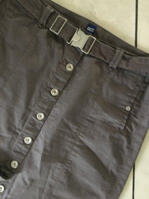 Cecil Jupe cargo gris brun coton