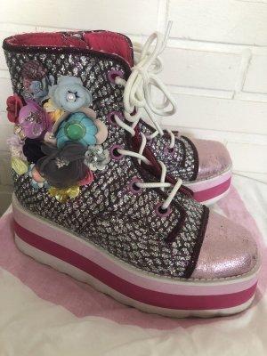 Irregular Choice Boots, Flower Power (neuwertig), Gr. 38