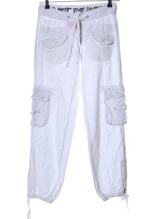 Pantalon cargo blanc style décontracté