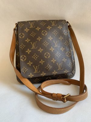 IS VUITTON MUSETTE MONOGRAM CANVAS TASCHE SCHULTERTASCHE