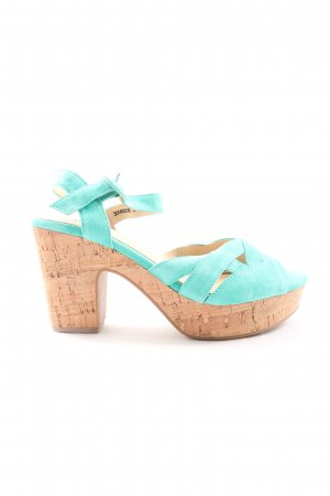 Isabel Licardi Slingback pumps turkoois casual uitstraling