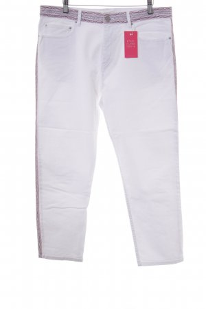 Isabel Marant 7/8 Jeans weiß Ethnomuster Ethno-Look