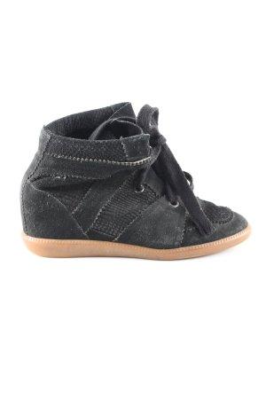 Isabel Marant Absatz Sneaker schwarz Casual-Look