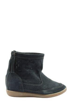 Isabel Marant Absatz Sneaker schwarz Allover-Druck Casual-Look