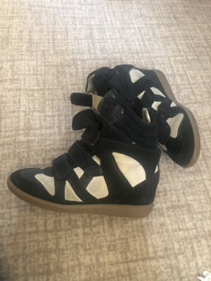 Isabel Marant Wedge Sneaker black-oatmeal