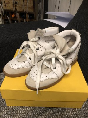 Isabel Marant High Top Sneaker natural white-light grey leather
