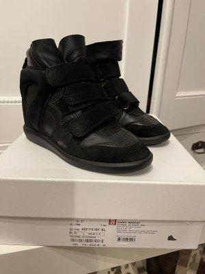 Isabel Marant Heel Sneakers black leather