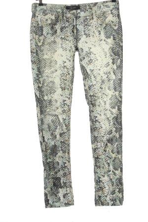 Isabel Marant Corduroy Trousers natural white-light grey animal pattern