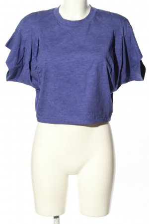 Isabel Marant Cropped Shirt blau meliert Casual-Look