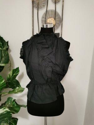 Isabel Marant Damen Designer Top Volant Wickeloptik Ramie Größe 2  (38)