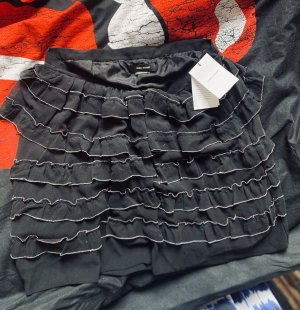 Isabel Marant Silk Skirt black-dark red silk