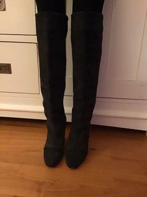 Isabel Marant Kniehoge laarzen zwart-antraciet