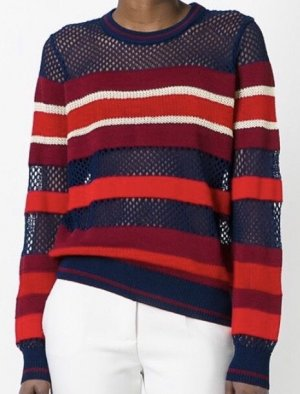 Isabel Marant Étoile Crochet Sweater multicolored viscose