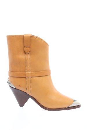 "Isabel Marant Trzewiki ""Limza Boots Leather Natural"""