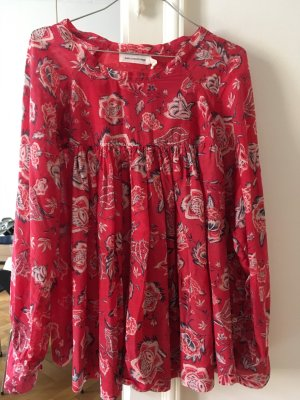 Isabel Marant Oversized Blouse neon red cotton