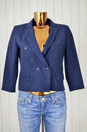 ISABEL MARANT ÉTOILE Damen Blazer Doppelreiher Blau Baumwolle 3/4-Arm Gr.40