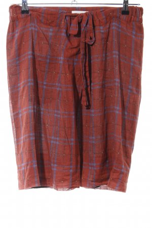 Isabel Marant Étoile Flared Skirt brown-blue check pattern casual look