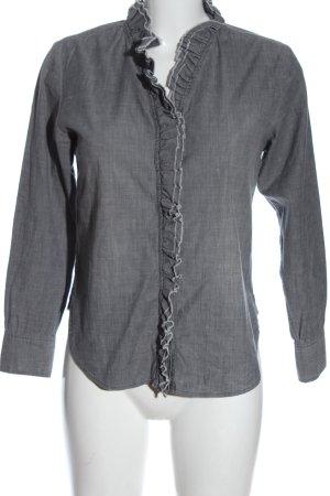 Isabel Marant Étoile Camicia blusa grigio chiaro puntinato stile professionale