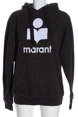 Isabel Marant Étoile Kapuzensweatshirt schwarz-weiß Schriftzug gedruckt