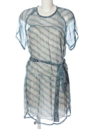 Isabel Marant Étoile Abito a maniche corte bianco sporco-blu motivo a righe