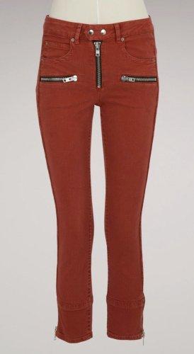 Isabel Marant Étoile Biker Jeans red-brick red cotton