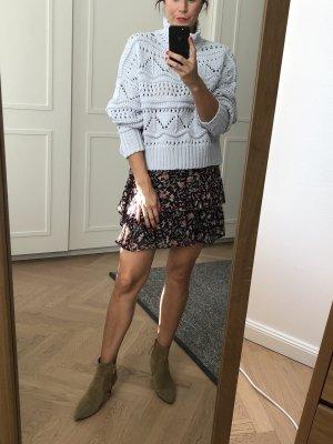 Isabel Marant Étoile Warkoczowy sweter błękitny