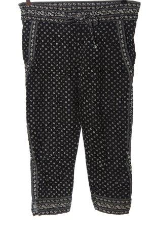 Isabel Marant Étoile Pantalone jersey nero-bianco sporco stampa integrale
