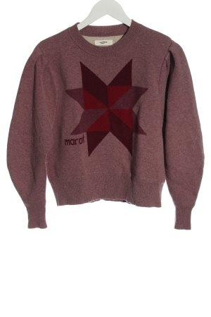 Isabel Marant Étoile Maglione lavorato a maglia rosso puntinato stile casual