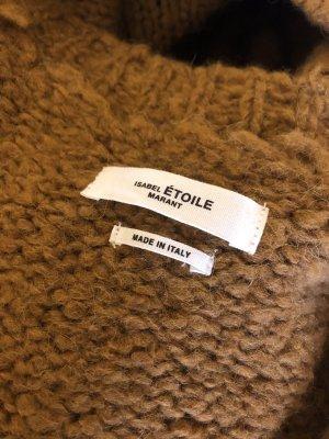 Isabel Marant Etoile Strickpullover Alpaca Wolle Oversize 40 braun