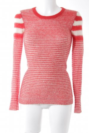Isabel Marant Étoile Strickpullover rot-weiß Streifenmuster Casual-Look