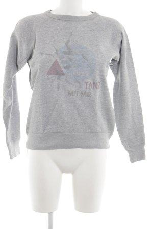 Isabel Marant Étoile Sweatshirt hellgrau abstraktes Muster sportlicher Stil