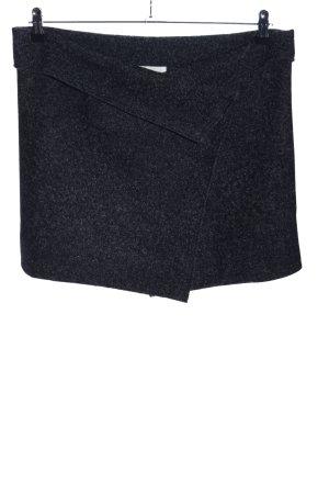 Isabel Marant Étoile Jupe en laine noir moucheté style décontracté