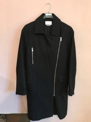 Isabel Marant Étoile Cappotto in lana nero-argento Tessuto misto