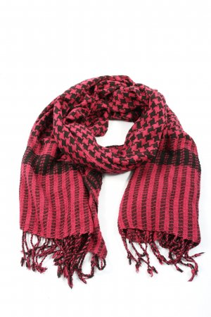 Isabel Marant Fringed Scarf pink-black casual look