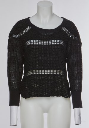 Isabel Marant Coarse Knitted Sweater black cotton