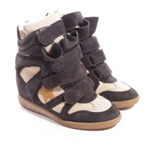 ISABEL MARANT High-Top Sneaker Gr. 36 Blau Beige Beckett