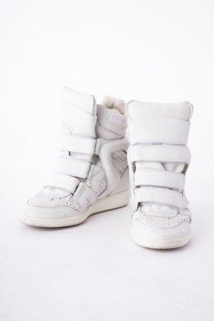 ISABEL MARANT - High-Top Sneaker mit Keilabsatz Weiß