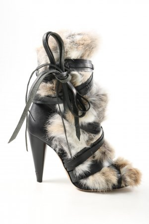 Isabel Marant Heel Boots black-natural white elegant