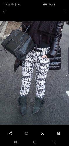 Isabel Marant Pantalon boyfriend blanc-noir