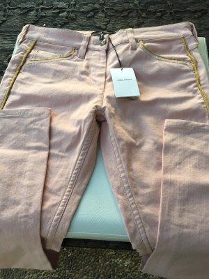 Isabel Marant Jeans cigarette rosé-doré