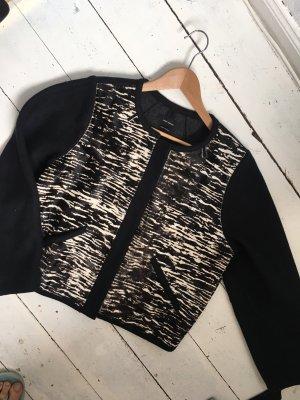 Isabel Marant Veste en laine noir-beige clair laine mérinos