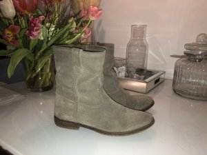 Isabel Marant Jenny Slouchy Boots Ankle Suede Stiefel Taupe grey