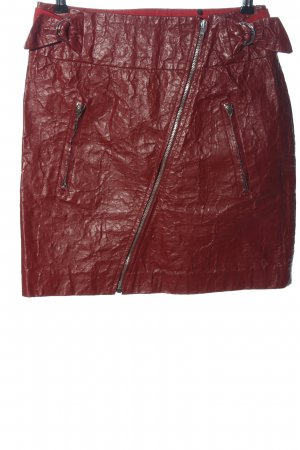 Isabel Marant Faux Leather Skirt red casual look