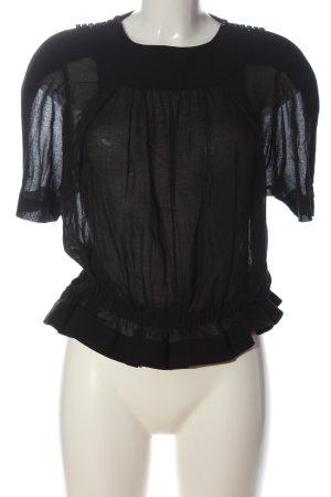 Isabel Marant Kurzarm-Bluse schwarz Casual-Look