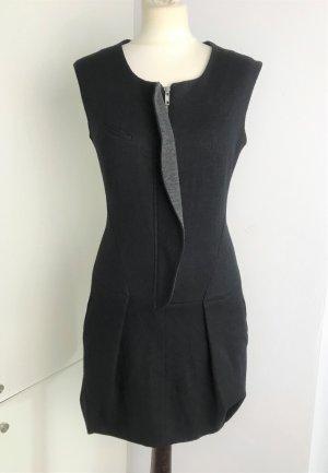 Isabel Marant Robe en laine noir-gris laine