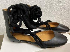 Isabel Marant Ballerines à lacets noir cuir