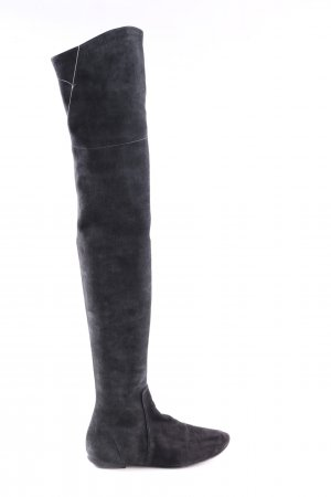 Isabel Marant Buty nad kolano czarny Ekstrawagancki styl